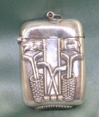 Golf Related Sterling Silver Vesta Case